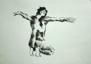 Kniender-Arme-ausgebreitet-300x210 in Männliche Figur
