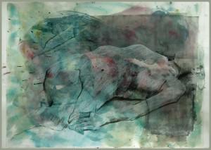 Liegende-in-blaugrau-300x213 in weibliche Figur