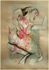 Liegende-linke-Seite-Verku Rzungen-211x300 in weibliche Figur