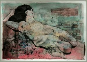 Liegende-vor-tu Rkis-auf-rose-300x212 in weibliche Figur