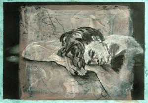 Portrait-Kopf-auf-Ha Nden-liegend-300x209 in alte arbeiten (2010)
