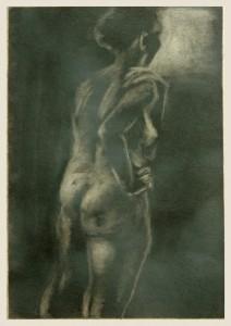 Ru Ckenakt-rechte-Hand-stu Tzt-Hu Fte-schwarzwei -212x300 in weibliche Figur