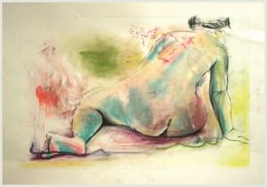Ru Ckenakt-sitzend-ein-Bein-gestreckt-300x211 in weibliche Figur