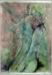 Sitzende-SchulterRu Cken-gru N-vor-rosa-210x300 in weibliche Figur