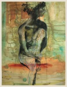 Sitzende-im-Gegenlicht-linkes-Bein-hochgezogen-232x300 in weibliche Figur