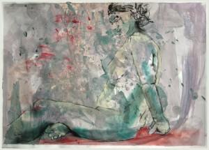 Sitzende-in-violett-300x215 in weibliche Figur