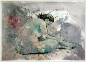Sitzende-in-violett2-300x218 in weibliche Figur