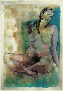 Sitzende-vor-coelin-210x300 in weibliche Figur