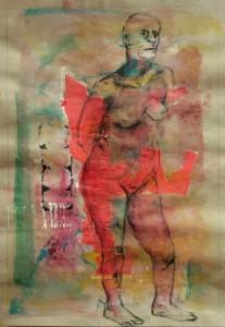 StandbeinRoteCollage-207x300 in weibliche Figur