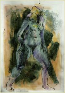 Stehende-mit-Schal-211x300 in weibliche Figur