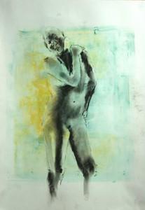 Stehende-rechte-Hand-auf-linker-Schulter-207x300 in weibliche Figur