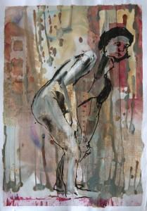 Stehender-nach-links-geneigt-Ha Nde-stu Tzen-auf-Knien-209x300 in Männliche Figur