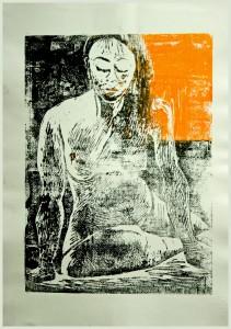 Stu Tzende-Linolschnitt-211x300 in weibliche Figur
