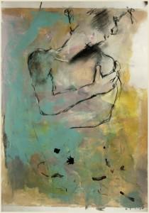 Wegdrehender-die-eigene-Schulter-umfassend-210x300 in Männliche Figur