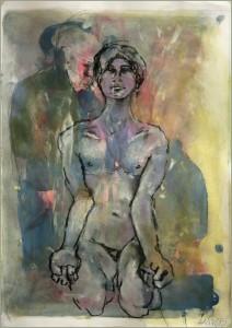 Auf-den-Knien-mit-geballten-Fa Usten-212x300 in Männliche Figur