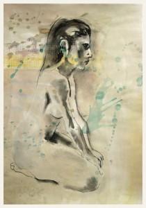 Seitlich-im-Fersensitz-Ha Nde-stu Tzen-auf-Knien-210x300 in weibliche Figur